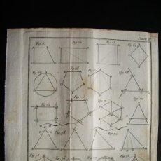 Arte: 1767-GRABADO. MATEMÁTICAS.ÁLGEBRA.GEOMETRÍA.PARÍS.ORIGINAL. Lote 34002820
