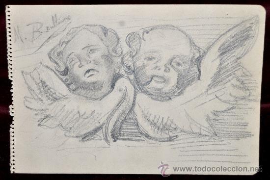 mariano benlliure y gil 18621947 dibujo a la  Comprar Grabados