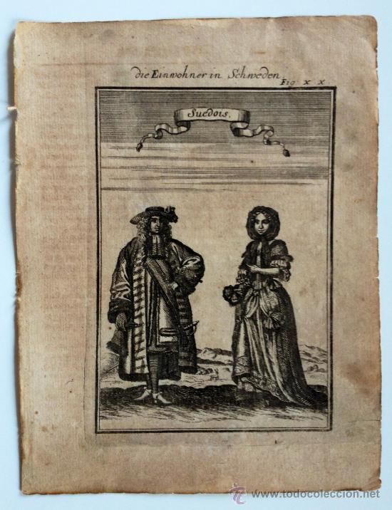 EXTRAORDINARIO GRABADO ORIGINAL DEL SIGLO XVII (CIRCA 1660), RETRATO DE UN MATRIMONIO (Arte - Grabados - Antiguos hasta el siglo XVIII)