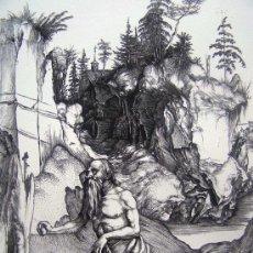 Arte: DURERO, A. (1471-1528). SAN JERONIMO PENITENTE EN EL DESIERTO. SIGLO XIX.. Lote 36741292