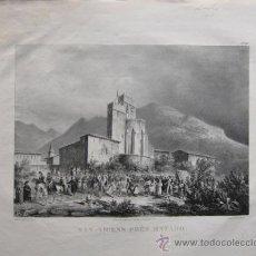 Arte: SAN VICENTE. MATARÓ. LANGLOIS. HACIA 1826. LITOGRAFIA. Lote 34423712