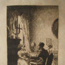 Arte: CURIOSO GRABADO DE JOAN COLOM (ARENYS DE MAR 1879 - BARCELONA 1969). Lote 34424445