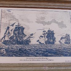 Arte: GRABADO INGLES SOBRE COBRE COPIA DEL ORIGINAL EN LA NATIONAL MARITIME MUSEUM LONDON - NAVAL. Lote 34446213