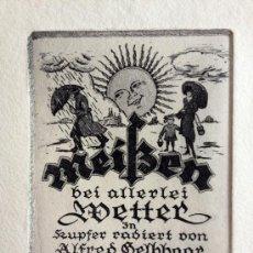Arte: INTERESANTE GRABADO FIRMADO Y TITULADO A LÁPIZ POR EL PINTOR ALEMAN ALFRED GELBHAAR, CIRCA 1920. Lote 34618953