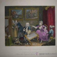 Arte: PROGRESO DE UNA PROSTITUTA, WILLIAM HOGARTH, 1830. Lote 34726208