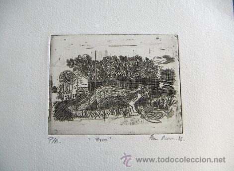 GRABADO ORIGINAL FIRMADO (Arte - Grabados - Contemporáneos siglo XX)