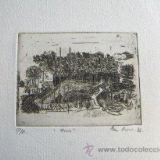 Arte: GRABADO ORIGINAL FIRMADO. Lote 34901233