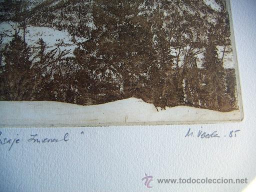 Arte: Grabado original firmado M.Ubeda - Foto 2 - 34901477