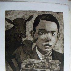 Arte: GRABADO FIRMADO DURÁ HOMENAJE A MIGUEL HERNANDEZ. Lote 34901837