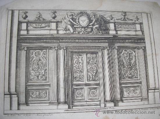 PORTE COCHÈRE - JEAN LEPAUTRE - CERCA 1656\1657 (Arte - Grabados - Antiguos hasta el siglo XVIII)