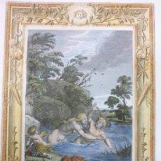 Arte: SALMACIS Y HERMAFRODITO, BERNARD PICART, 1733. Lote 34969844
