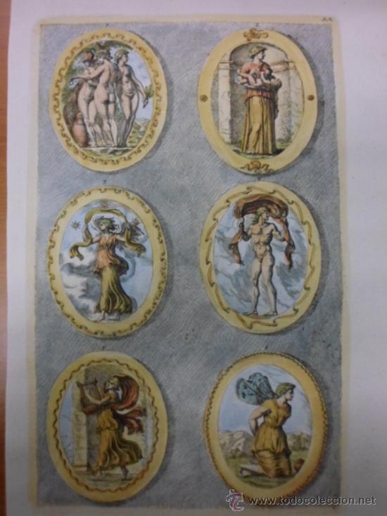 DIOSES GRIEGOS, SANDRAT, 1679 (Arte - Grabados - Antiguos hasta el siglo XVIII)