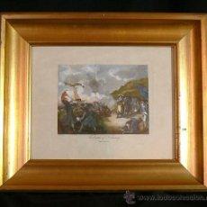 Arte: ANTIGUO GRABADO COLOREADO INGLES. Lote 35651676