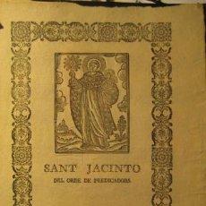 Arte: SANT JACINTO DEL ORDE DE PREDICADORS. 21 X 18 CM. Lote 35396453
