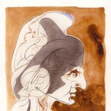 Arte: SALVADOR DALÍ: CONDOTTIERE (SUITE LEONARDESQUE), 1975. PUNTA SECA Y POCHOIR EN 3 COLORES (EA). Lote 35589396