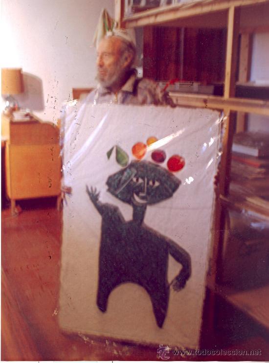 Arte: Joan/Juan G. RIPOLLÉS : Hombre de la fruta. Grabado y téc. mixta 15/50, 121x75 cm. Cert. del autor - Foto 4 - 35595270