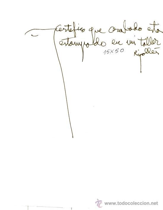 Arte: Joan/Juan G. RIPOLLÉS : Hombre de la fruta. Grabado y téc. mixta 15/50, 121x75 cm. Cert. del autor - Foto 5 - 35595270