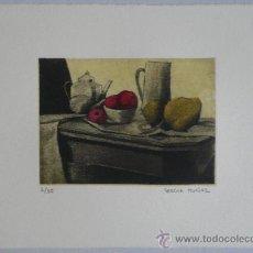 Arte: GRABADO - BODEGÓN CON CAFETERA Y FRUTAS. Lote 35638490