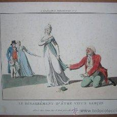 Arte: GRABADO LE DÉSAGRÉMENT D'ETRE VIEUX GARÇON Nº 6 DE L'ELEGANCE PARISIENNE. Lote 35731080