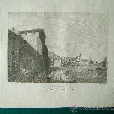 Arte: VISTA DE GERONA - VUE DE GIRONA - VIEW OF GIRONA - 34X41 CM. - ALEXANDRE DE LABORDE - 1806/1856 ?. Lote 35828287