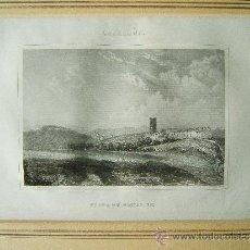 Arte: CATALUÑA-VISTA DE HOSTAL RIC-ANTONI ROCA I SALLENT-FRANCISCO PI Y MARGAL-HOSTALRIC-31X40 CM-1840?. Lote 35828893