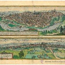 Arte: GRABADO DE LAS VISTAS DE TOLETUM (TOLEDO) Y VALLISOLETUM (VALLADOLID) / AÑO 1598. Lote 35922869