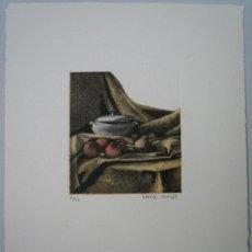 Arte: GRABADO - BODEGÓN CON SOPERA Y FRUTAS. Lote 35933034