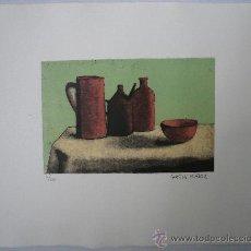 Arte: GRABADO - BODEGÓN CON JARRA Y BOTELLA.. Lote 35933150