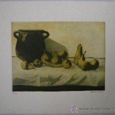 Arte: GRABADO - BODEGÓN CON OLLA Y PERAS. Lote 35933286