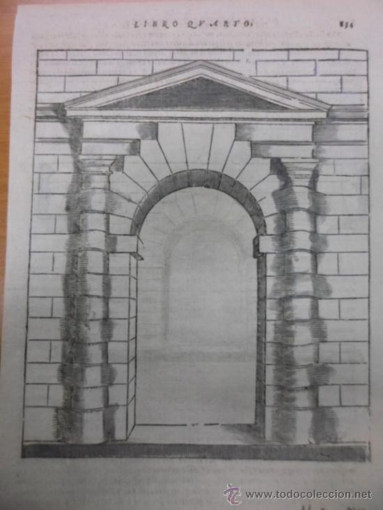 puerta de entrada renacentista 1565sebastiano  Comprar Grabados
