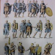 Arte: TRAJES MILITARES ROMANOS, 1757, MONTFAUCON. Lote 36110984