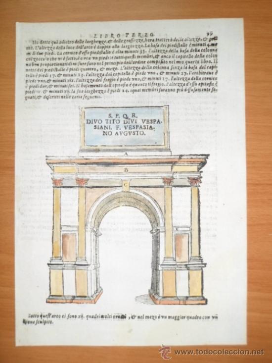 arco de triunfo romano,1565, sebastiano serlio - Comprar Grabados ...