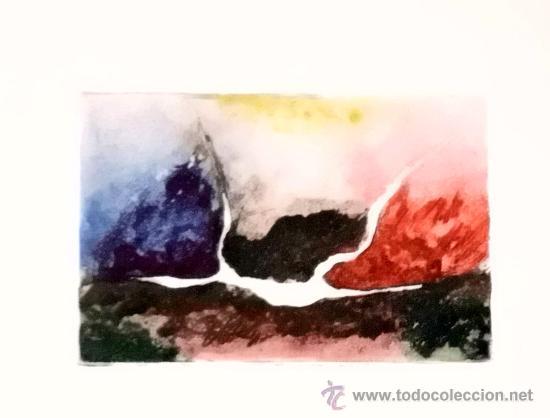 GRABADO DE COLORES .- MEDIDAS 6X9 (Arte - Grabados - Contemporáneos siglo XX)