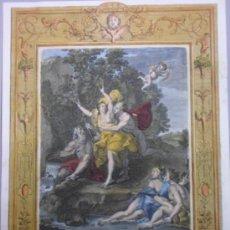 Arte: MITOLOGÍA, DAPHNE PERSEGUIDA POR APOLO, 1733, BERNARD PICART. Lote 36233838
