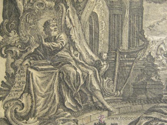 Arte: GRABADO DE JOSEPH Y JOHANN KLAUBER. GRABADORES ALEMANES, SIGLO XVIII. 9,5 X 14,5 CM - Foto 3 - 36240865