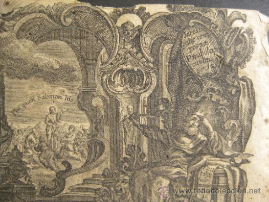 Arte: GRABADO DE JOSEPH Y JOHANN KLAUBER. GRABADORES ALEMANES, SIGLO XVIII. 9,5 X 14,5 CM - Foto 4 - 36240865