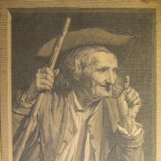 Arte: GRABADO ATRIBUIDO A JOHANN GEORG WILLE (1715 - 1808). GRABADOR ALEMAN. 17,5 X 14,5 CM. Lote 36240837