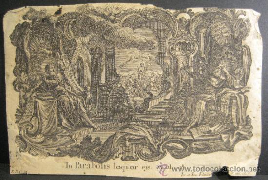 GRABADO DE JOSEPH Y JOHANN KLAUBER. GRABADORES ALEMANES, SIGLO XVIII. 9,5 X 14,5 CM (Arte - Grabados - Antiguos hasta el siglo XVIII)