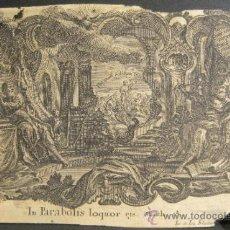 Arte: GRABADO DE JOSEPH Y JOHANN KLAUBER. GRABADORES ALEMANES, SIGLO XVIII. 9,5 X 14,5 CM. Lote 36240865