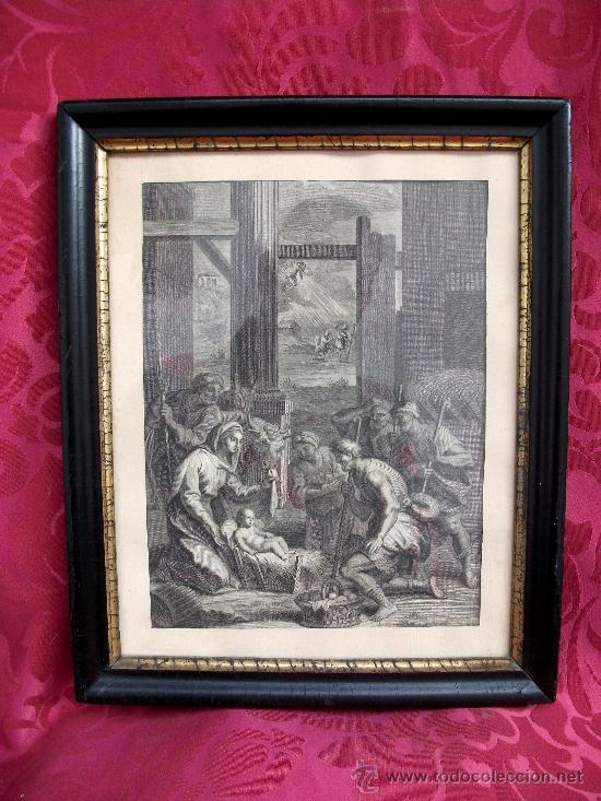 GRABADO NACIMIENTO S. XVIII (Arte - Grabados - Antiguos hasta el siglo XVIII)