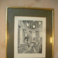 Arte: GRABADO ORIGINAL FIRMADO,TITULADO,NUMERADO Y FECHADO. Lote 36450745