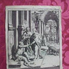 Arte: GRABADO S. XVIII. S. PEDRO Y S. JUAN. Lote 36462045