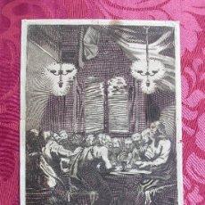Arte: GRABADO S. XVIII. LA SANTA CENA.. Lote 67581626