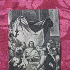 Arte: GRABADO S. XVIII. SANTA CENA.. Lote 67581665