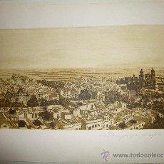 Arte: PRECIOSO GRABADO DE LAS PALMAS, PRINCIPIO DEL SIGLO XX, FIRMADO CHARINA 87. Lote 34364301