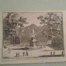 Arte: 1707 - ARANJUEZ - FUENTE DE BACO - VUE DE LA FONTAINE DE BACHUS - PIETER VAN DER AA. Lote 36498920