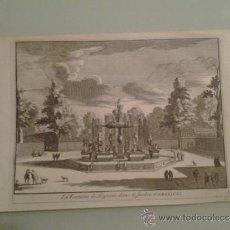 Arte: 1707 - ARANJUEZ - FUENTE DE LAS ARPÍAS - VUE DE LA FONTAINE DES HARPYES - PIETER VAN DER AA. Lote 36499076