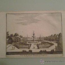 Arte: 1707 - ARANJUEZ - VISTA DE LA GRAN FUENTE - VUE DE LA GRAND FONTAINE - PIETER VAN DER AA. Lote 36499133