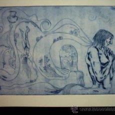 Arte: MAGALI LARA (1956)? AGUAFUERTE. 34 X 24 CM. PA/4. FIRMADO: LARA. Lote 36505881