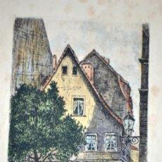 Arte: BELLO GRABADO EN COLOR - FIRMADO Y TITULADO. Lote 36519547